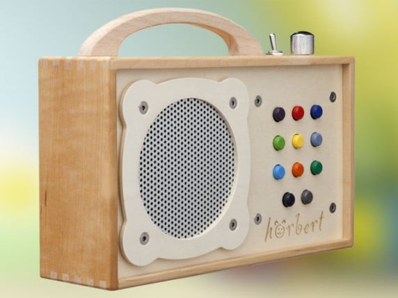 horbert is a crazy expensive wooden mp3 player for kids. Black Bedroom Furniture Sets. Home Design Ideas
