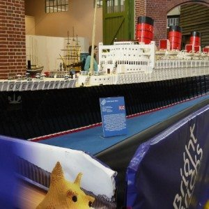 WORLD'S LARGEST LEGO(C) BRICK MODEL SHIP COMES TO THE QUEEN MARY IN LONG BEACH (PRNewsFoto/The Queen Mary)