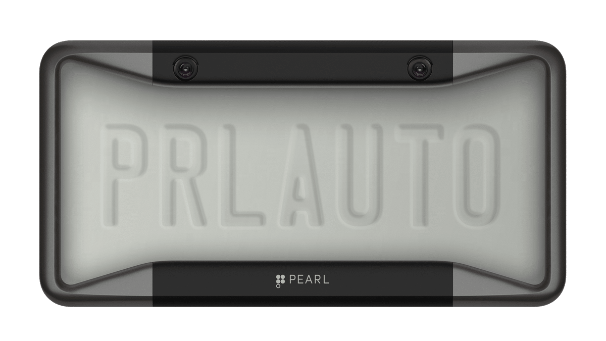 this sneaky gadget hides a backup camera into a license plate frame